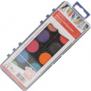 Water color box 12 XL colors and brush 21x8cm