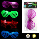 Glasses with color-changing light, 4 colors assort