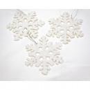Snow Csillagok Set 3 XL, a 10x 10cm, a Glitters