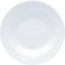 Großhandel Geschirr: Porzellan Suppenteller weiss 22x3cm