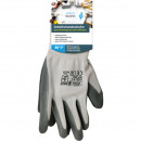 wholesale Garden & DIY store: Working gloves garden size S - XL green / gray