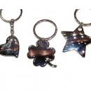 Großhandel Schlüsselanhänger: Schlüsselanhänger Metall 10x4cm wertig silber