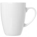 Porcelán bögre kávét hagyma alakú, fehér 390 ml