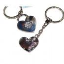 Key pendant with strass stones 10x4cm valuei