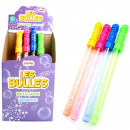Bubble Wand 37cm 120ml colored assorted in Dis