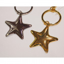 Portachiavi argento Metal Star 9x5cm valente /