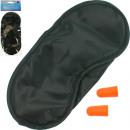 Travel sleeping set, mask 18x8cm + two earplugs
