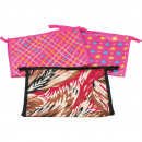 Cosmetic bag WOMAN 26,5x17x8,5cm 3 times assorted