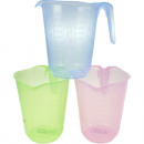 wholesale Kitchen Utensils: assorted cup 1 liter colored assorted