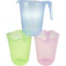 Großhandel Tassen & Becher: Messbecher 1 Liter farbig sortiert
