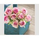 Großhandel Haushaltswaren: Servietten Premium 20er 33x33cm, Rosen Pink