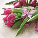Szalvéták Premium 20er 33x33cm, 3 rétegű tulipán