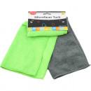 Microfaser Tuch CLEAN 2er 30x40cm grün&grau sortie