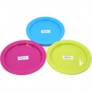 wholesale Crockery: Frosty plate set of 2 By 22cm assorted color