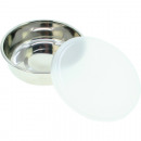 wholesale Organisers & Storage: Stainless steel bowl with lid 12cm diameter