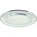 wholesale Crockery: Stainless steel plate oval shape 20cm, 80g