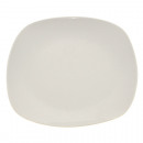 wholesale Crockery: Porcelain cake plate white about 20cm square
