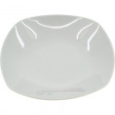 Großhandel Geschirr: Porzellan Suppenteller weiß ca. 23cm eckige Form