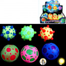 wholesale Toys: Springball Meteor with light, 5,5cm sorted 4colors