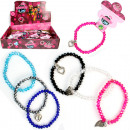 wholesale Jewelry & Watches: Bracelet shiny, 6 colors sort in the Display