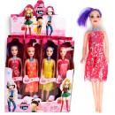 Großhandel Spielwaren: Puppe XL 27cm, 4 Modelle sortiert im 20er Display
