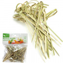 Bamboo skewers 50's 7cm long knot look
