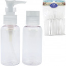 wholesale Travel Accessories: Travel cosmetic bottle set 2x80ml fillable