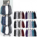 Scarf assortment 10 models colored assorted 360 Te