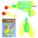 Ball pistol, 11cm with 6 balls and 3 cones