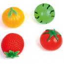 Großhandel Spielwaren: Quetschball 6cm Obst & Gemüse Optik, im Display
