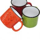 Großhandel Spielwaren: Kaffeebecher in Emaille-Look, 290ml, 3-fach sortie