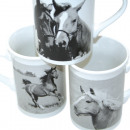 Coffee Mug Horses Straight Shape 10x7cm, 265ml