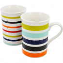 Coffee mug 10x7cm, with stripes, 250ml