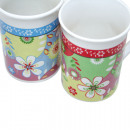 Coffee mug straight shape 250ml, with floral motif