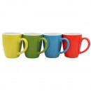 Großhandel Tassen & Becher: Kaffeebecher bauchige Form , 350mlFarben sortiert