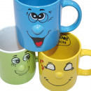wholesale Toys: Coffee mug with funny face, 350ml
