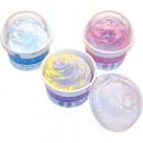 Bombe de bain design glace, 100g dans un bol à gla
