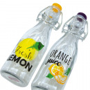 Glass bottle 260ml, 20,2x6cm with fliptop closure