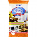 Großhandel Drogerie & Kosmetik: Feuchttücher Allzweck Clean 80er , je 20x16,5cm