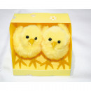 wholesale Figures & Sculptures: Chick set of 2 8x7x6cm with cuddly fur