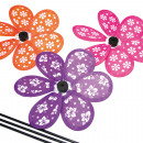 wholesale Garden & DIY store: Windmill 20x31cm, in floral and trendy colors