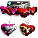 Keyring heart 10cm with sequins