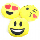 wholesale Cushions & Blankets: Plush pillow Smile 15cm, 6 times assorted