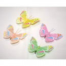 Butterfly set of 2 8x7cm, with long feelers