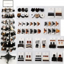 Hair fashion range 528 parts in metal Display