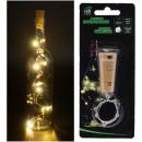 LED light chain bottle cork 8 LEDs warm white