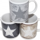 Coffee Mug Stars Vintage 12x10cm, 330ml