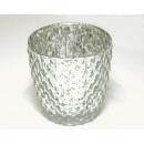 Lantern glass 8x8x6,5cm, bulbous - conical shape,