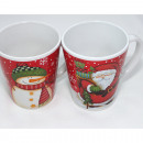 Coffee Mug Snowman and Santa 12x10cm, 265ml