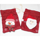 wholesale Home & Living: Beautiful 16x12cm linen Christmas bag,